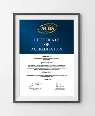 ACHS certificate of accreditation 01, epiclinic®