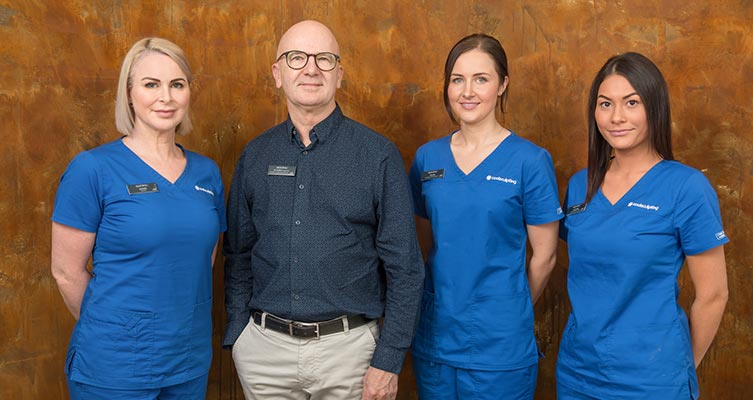 Dr Molton and his staff at epiclinic - hair transplant adelaide